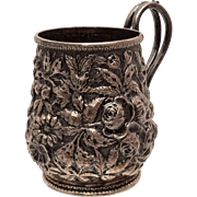 Antique Silver Child Mug by S Kirk & Son Repousse