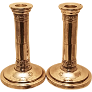 Pair of Sterling Silver Jensen Style Candlesticks