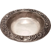 S Kirk & Son Repousse Sterling Silver Candy Dish #409
