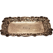 Sterling Butter Dish Repousse Pattern by S Kirk & Son