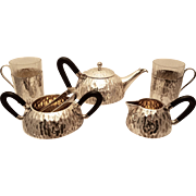 Silver Austrian Tea Set Hand Hammered