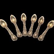 Gorham Sterling Florentine Grapefruit Spoons Set of 6