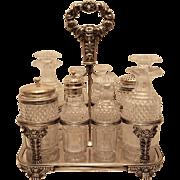 Silver And Glass Cruet Set by William Bateman
