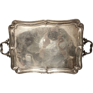 Monumental Russian Silver Tray 1849