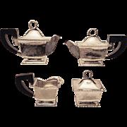 Italian Silver Tea Set Four Piece