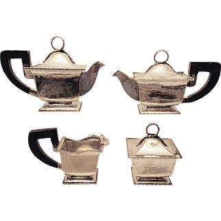 Italian Silver Tea Set Four Piece