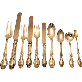 Tiffany Richelieu 1892 sterling silver flatware set dinner & luncheon