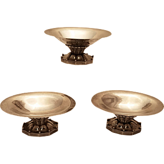 GEORG-JENSEN-THREE-PIECE-Danish-sterling-silver-table-garniture
