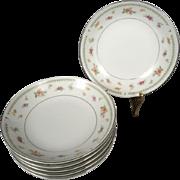 6 x Abingdon Fine Porcelain China Dessert/Fruit Bowls circa 1970s