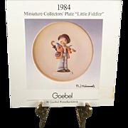 "1984 M.I. Hummel Miniature Collectors' Plate ""Little Fiddler"" By Goebel"