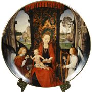 Madonna and Child with Angels Collectors Plate by Hans Memling