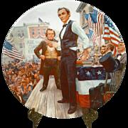 The Lincoln-Douglas Debates Collectors Plate by Mort Kunstler