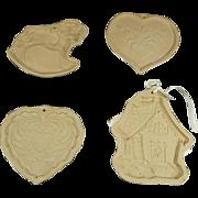 Brown Bag Cookie Art Molds Set of 4 c. 1980s