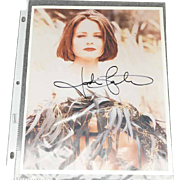 Jodie Foster Color Photo Signed