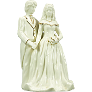 Baum Bros. Bride And Groom Porcelain Figurine From Formalities Line C. 1980s