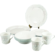 Corelle By Corning China Dishes Pink Trio Pattern 15 Pieces C. 1990s