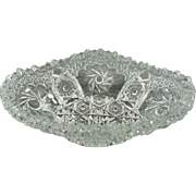 """US Glass Co """"Art Cut"""" EAPG Early American Pressed Glass 8"""" Dish C. 1910's"""