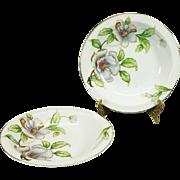 Roselyn China Rim Soup Bowl Set Of 2 Dogwood Pattern C. 1950s