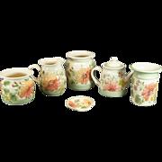 Patton Handmade Stoneware Meadows Pattern 5 Piece Pottery Set