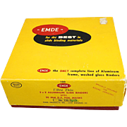 EMDE Ultra Thin 2x2 Aluminum Slide Binders With 35MM D.F. Foil Masks