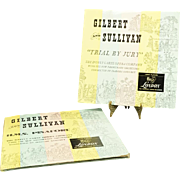 3 Vinyl Record Set By Gilbert And Sullivan C. 1949.