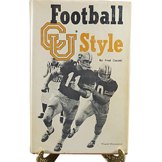 Football C U Style Autographed By Fred Casotti C. 1972.