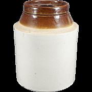 Vintage Stoneware Two Tone Crockpot