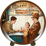 A Time to Keep Collectors Plate by Norman Rockwell c. 1989