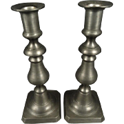 Colonial Casting Co. Vintage Pewter Candle Stick Holders Set Of 2