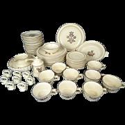 Pfaltzgraff 54 Piece Village Pattern Stoneware Dining Set