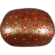 Wooden Trinket Box With Asian Pattern