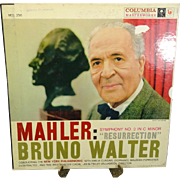 Mahler/Bruno Walter Symphony No. 2 in C Minor Resurrection 2 LP Set