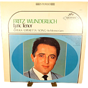 Capitol Records Lyric Tenor, Fritz Wunderlich Vinyl Record