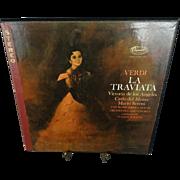 Capitol Records Verdi La Traviata Vinyl Record