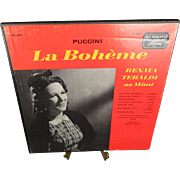 London Records Puccini La Boheme w/ Renata Tebaldi As Mimi