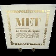 RCA Metropolitan Opera Historic Broadcast Le Nozze Di Figarro Vinyl Set