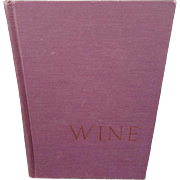 Wine An Introduction For Americans Hardcover 1965