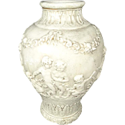 Roman Styled Floral Patterned Vase with Children Playing