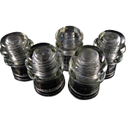 Insulators x 5Clear Glass