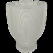 Vintage Frosted Tall Trinket Jar