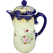 Vintage Ceramic Decorative Pitcher with Lid