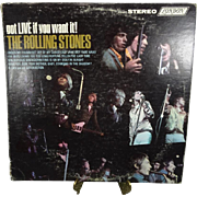 The Rolling Stones 'Got Live If You Want It!' Vinyl Record 1966 PS 493 Stereo