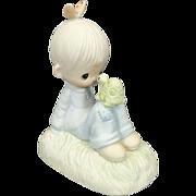 "Enesco Precious Moments Collection ""Love Is Kind"" 1978 Ceramic Figurine"