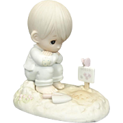 "Enesco Precious Moments ""In His Time"" Ceramic Figurine"
