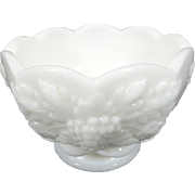 Westmoreland Milk Glass Small Footed Vase / Bowl Circa 1920's-1950's