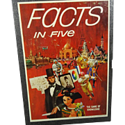 3M Facts In Five The Game Of Knowledge Circa 1960's Complete