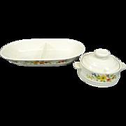 Bake Serve'nStore Stoneware Divided Baking Dish and Individual Casserole