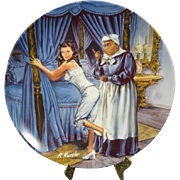 """Edwin Knowles """"Mammy Lacing Scarlett"""" Collector's Plate"""