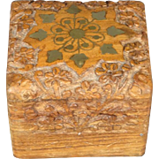 Beautiful wood carved trinket box
