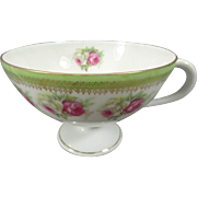 C.T. Carl Tielsch Footed TeaCup Circa 1920's - 1930's